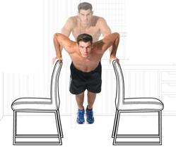 Fondos en paralelas sillas