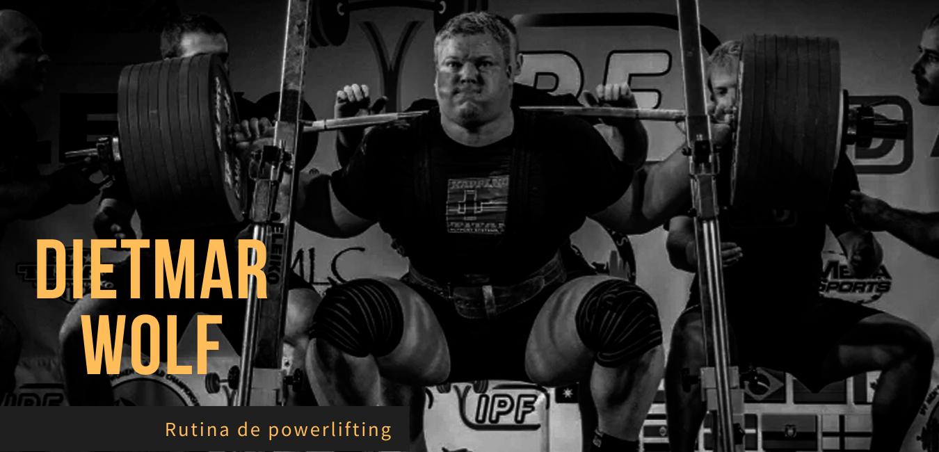 Rutina Powerlifting de Noruega Dietmar Wolf